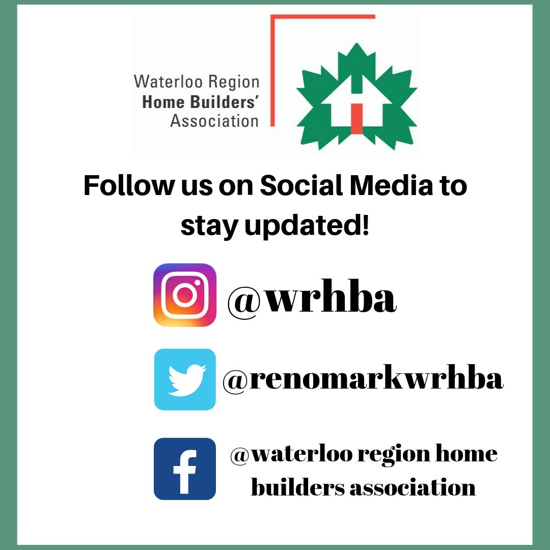 We now have an Instagram! Follow us on all of our Social Media channels to stay updated on everything WRHBA.  #wrhba #waterloo #waterlooregion #home #homebuilders #homebuildersassociation #association #notforprofit #homebeliever #waterlooontario #ontario #canada #kwlocal pic.twitter.com/ZxsfAdaYL1