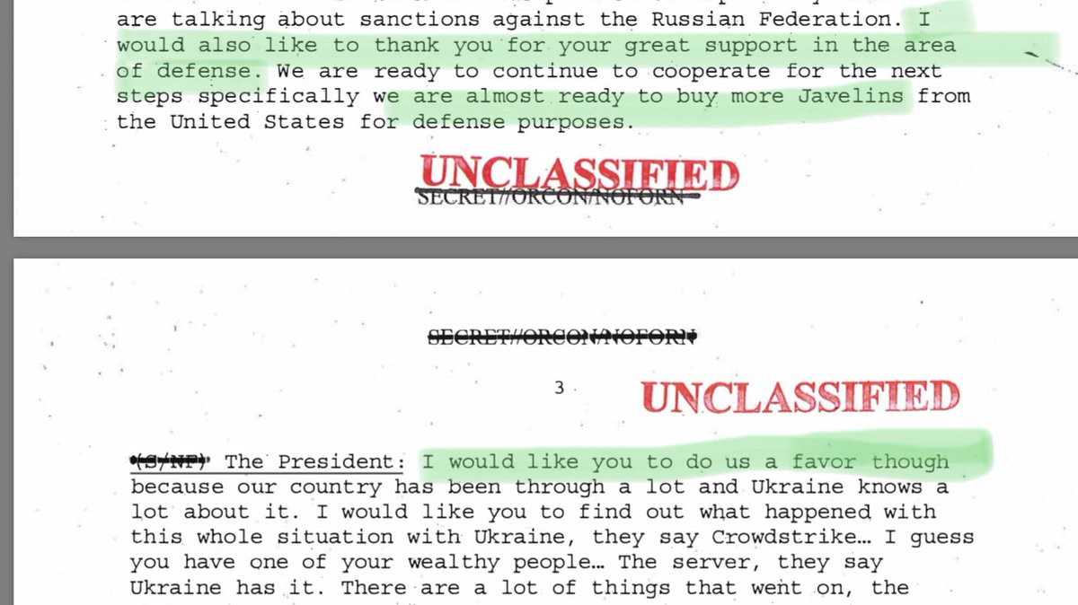 I see a lot of reporters saying there's not a quid pro quo in here, but like... what if I told you there is? whitehouse.gov/wp-content/upl…