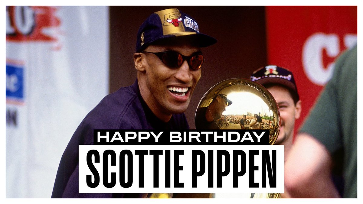 Join us in wishing a Happy 54th Birthday to 6x NBA Champion, 7x #NBAAllStar & 10x All-Defensive, @ScottiePippen! #NBABDAY