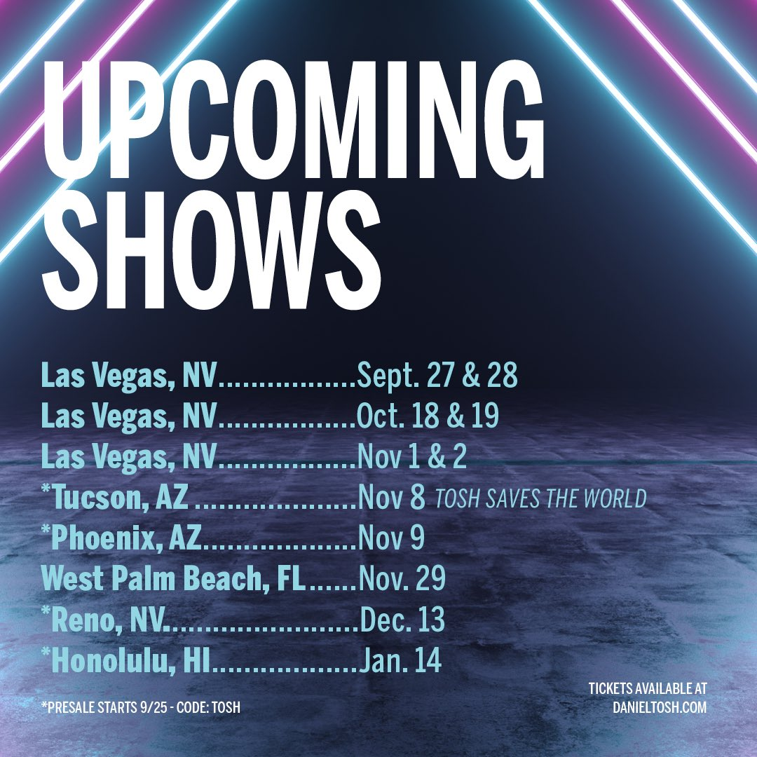 new dates! new comedy!! same body!!! on sale now!