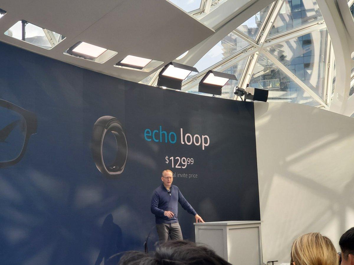 #amazon sorprende en su evento con el lanzamiento de su nuevo #anillo #echoloop #AmazonEvent ¿lo comprarías?