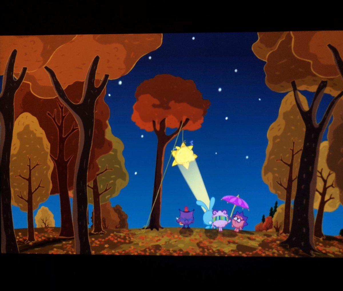 Картинки про осень из мультиков, хрюшек надписями картинки