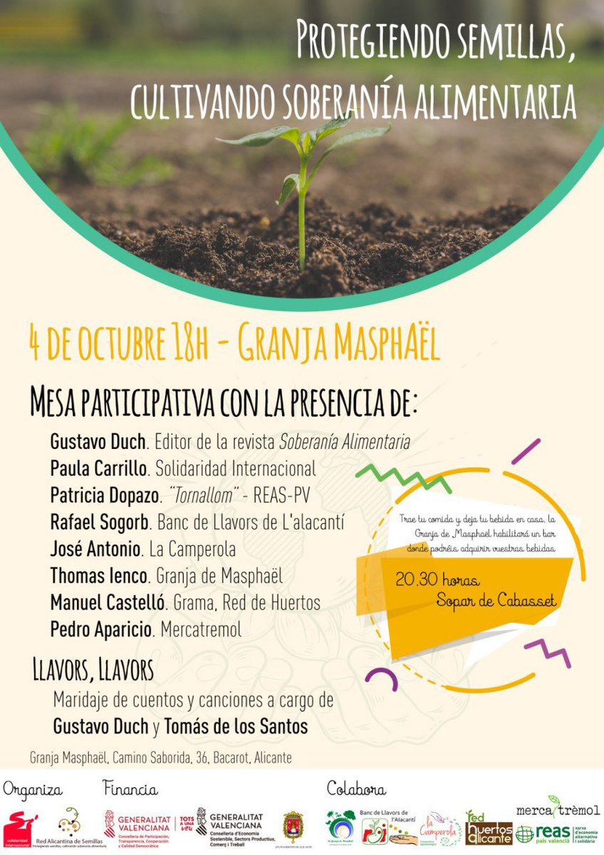 #tornallom #sobiraniaAlimentària @reaspv #Alacant https://t.co/0m2gvyNdRf