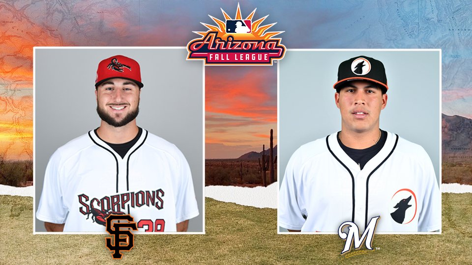 What a great start to in the Arizona Fall League! #SFGiants Joey Bart and #Brewers Victor Castaneda especially stood out as the AFL Player and Pitcher of the Week. 🦂🐕 atmlb.com/2lNkzod