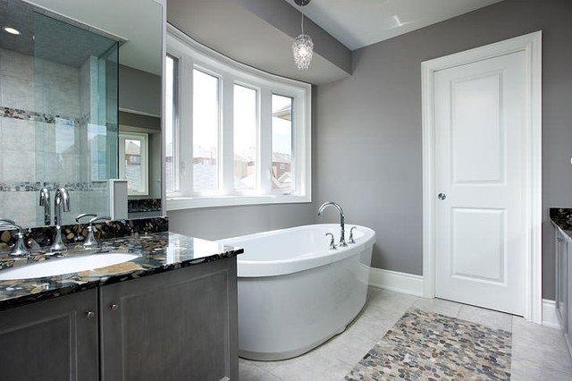 gray bathroom walls - 900×599