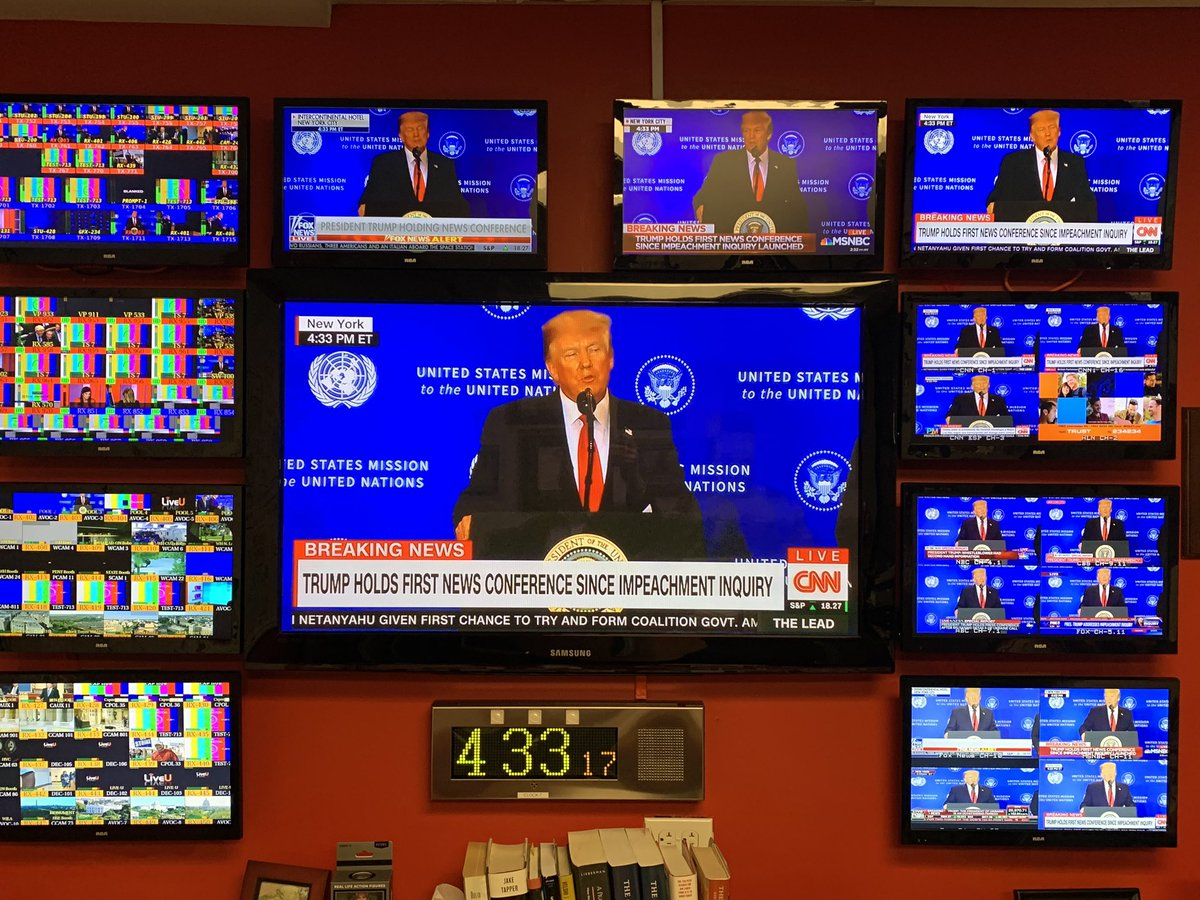 Every network is taking the President's press conference live.