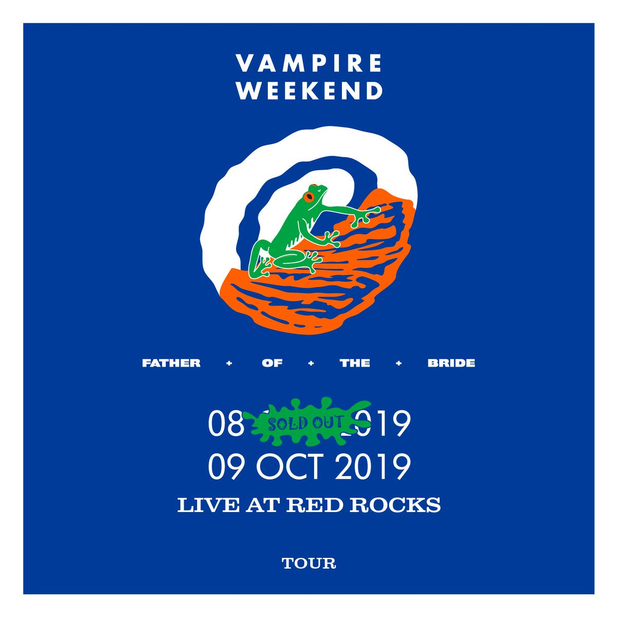 A few weeks until back to back nights at Red Rocks. A few tickets remaining for #2 at VampireWeekend.com