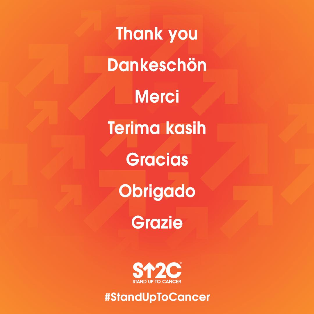 We are so grateful for every member of the #StandUpToCancer community. Thank you for being a part of the movement to make every cancer patient a long-term survivor. 💛