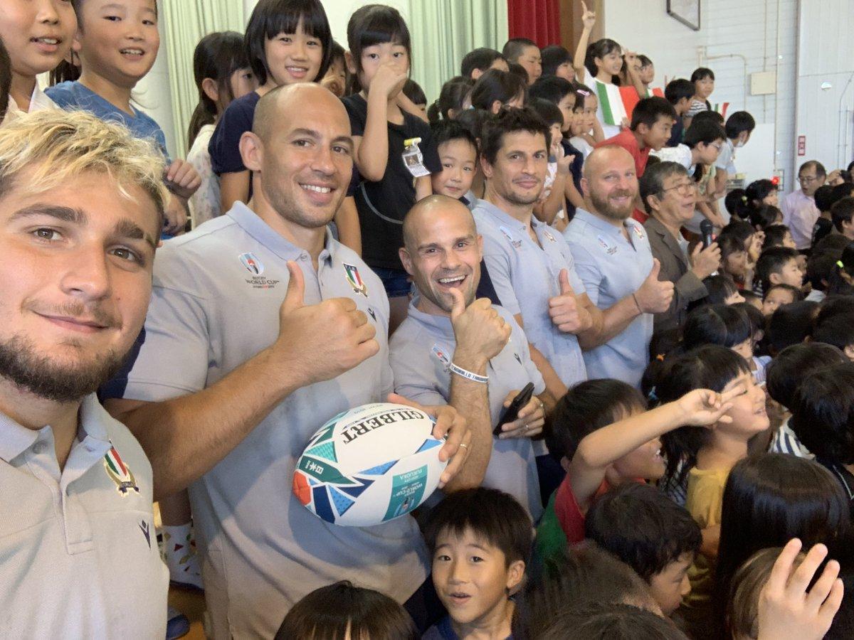 Così piccoli e già parlavamo tutti giapponese perfettamente! #ITAvCAN #RWC2019 #legacy