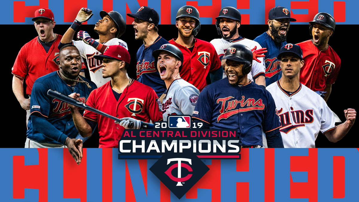 Replying to @Twins: YOUR 2019 A.L. CENTRAL CHAMPS! #MNTwins