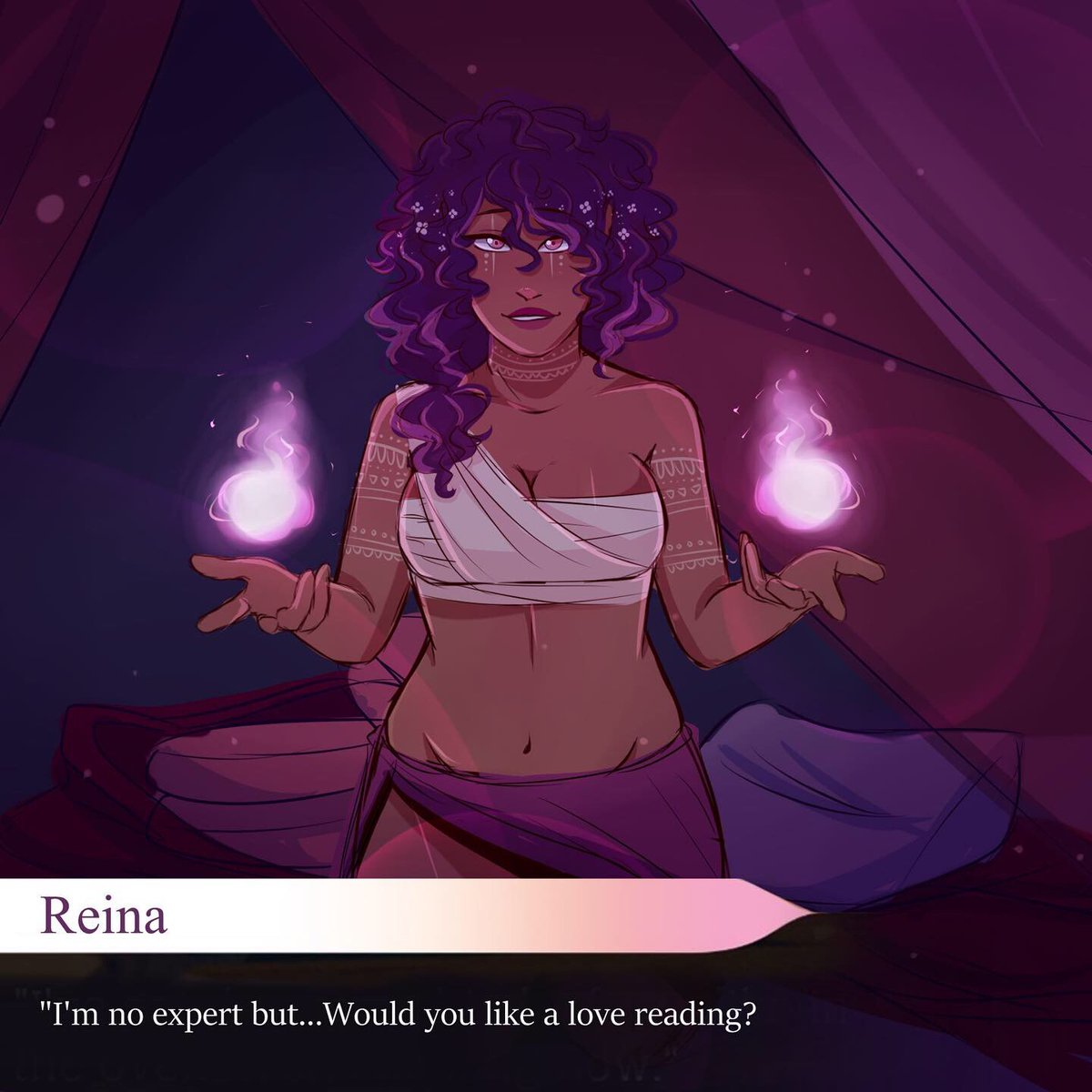 I haven't used this account in 5000 years but uh,, hi I love the arcana and this is my fan apprentice Reina ;<;  #thearcana #thearcanafanapprentice pic.twitter.com/6ffNIernO3