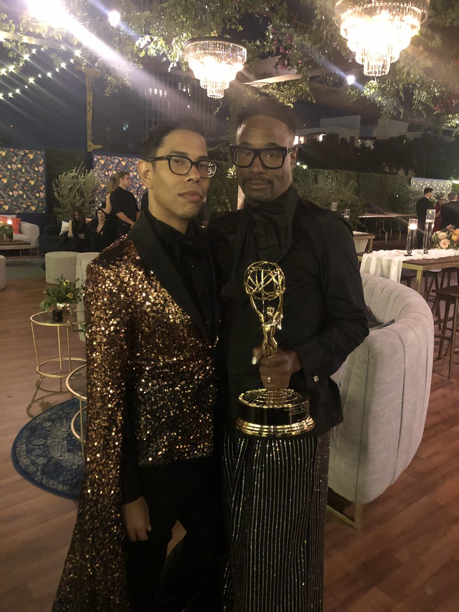Huge congratulations to @theebillyporter for making history at the #Emmys. He's an Oscar away from becoming an EGOT! And yes, I'm already writing that film ✍🏾🙃#PoseFX