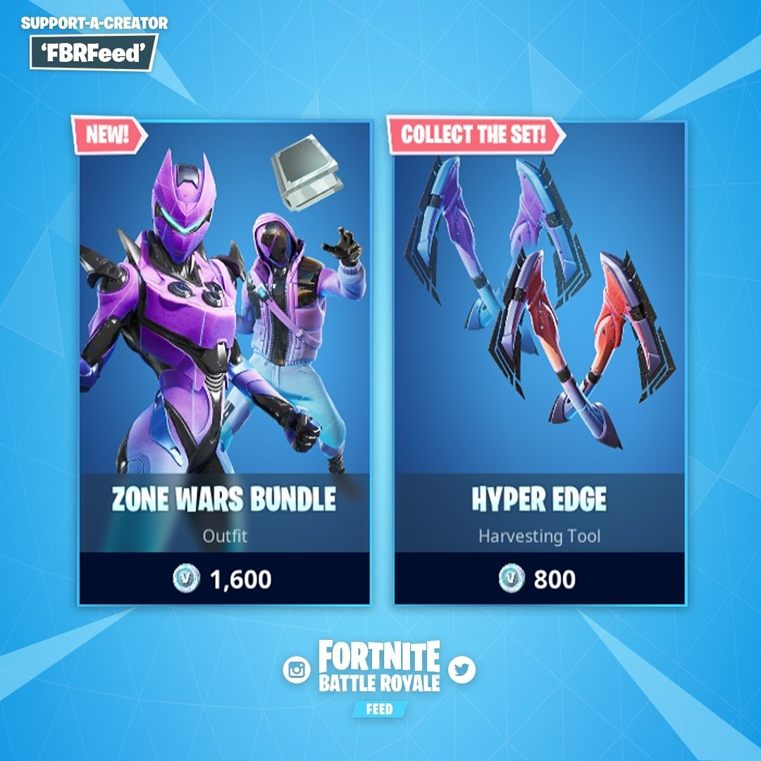 Item Shop Updated To Feature The New Zone Wars Bundle