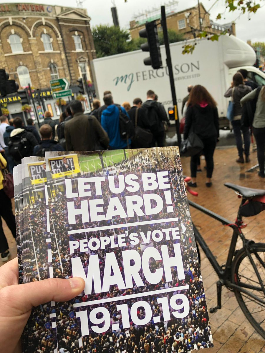We were up bright and early🌞this morning promoting the #PeoplesVote march on October 19th at Vauxhall Station! We need your help to make this march the biggest one yet. There are events taking place across the country. Click here to join us! 👉bit.ly/2UKR6e1