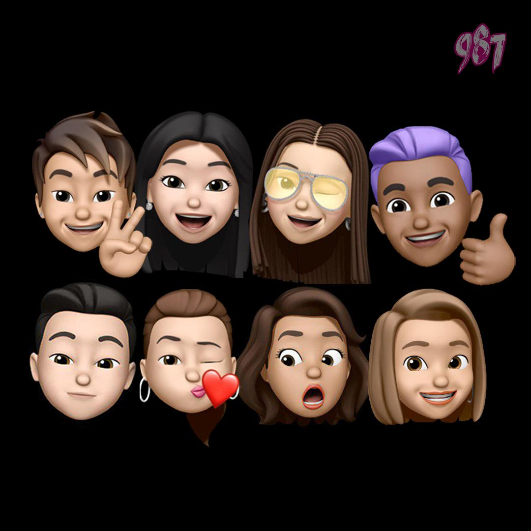 Check out the memoji versions of us! Can you tell who is who? Also, who do you think looks most like their real selves? Tweet us! 🤪 #memoji #iPhone Download & listen to us on the MeRadio app now: bit.ly/987meradio