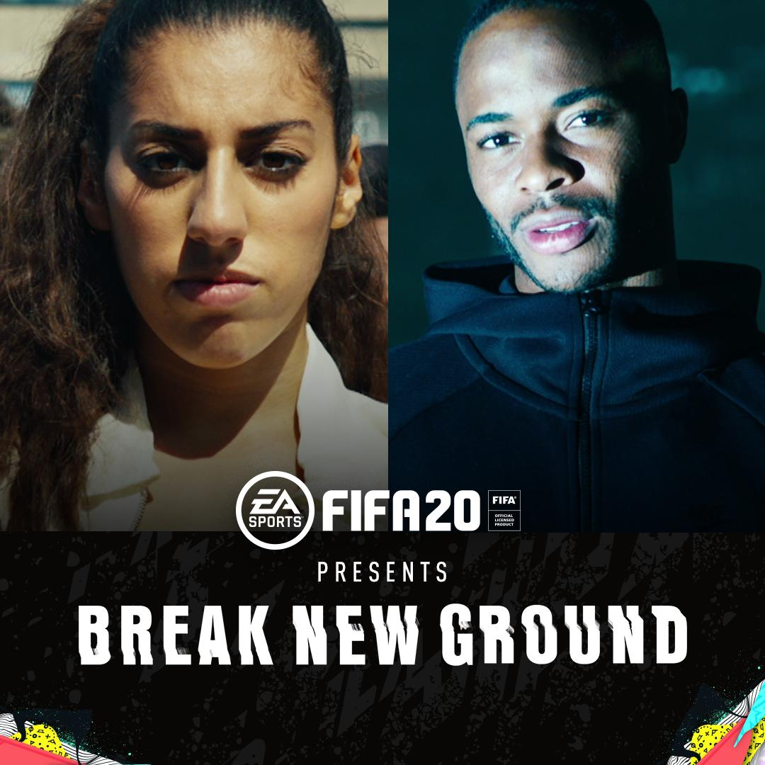 We play to #BreakNewGround. Happy to feature in this one with @sterling7 and @EASPORTSFIFA 🙏x.ea.com/60476 #FIFA20