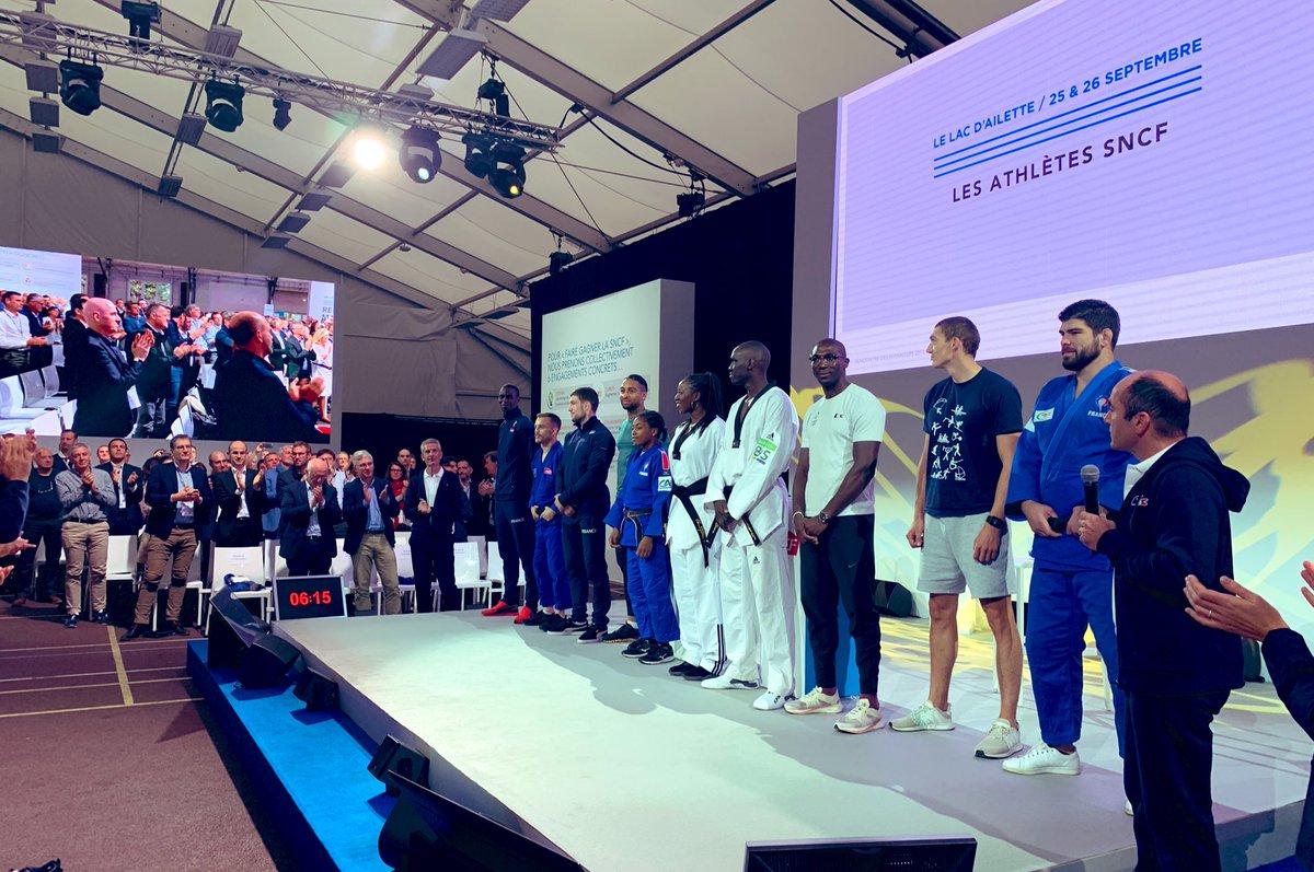 En attendant l'annonce officielle de la sélection pour les prochains #JO2024, nous sommes fiers du courage de nos #athletesSNCF qui concilient un entraînement de haut niveau et une vie quotidienne de cheminot @GroupeSNCF. https://t.co/8ZfLv7R2BI