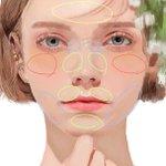 顔に立体感が出ているのはこういう事!とっても分かりやすいイラスト!
