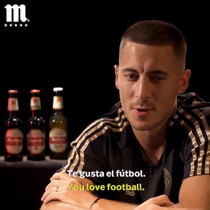 Has  @hazardeden10 ever googled himself?   What does he think is the most important thing in a derby?   Check out part two of his quickfire Q&A with  @futbolmahou ahead of Saturday's  #RMDerbi!  #ElSaborQueNosUne |  #HalaMadrid