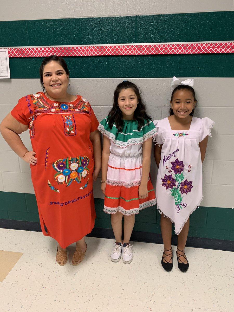 Students and teachers celebrating Hispanic Heritage. #teamlowery #fwisd