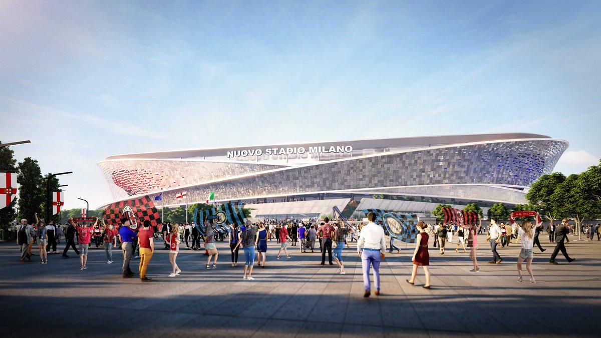 🆕 Un Nuovo Stadio per Milano 🆕 Guarda sulla nostra App ufficiale i progetti selezionati 📽📸 Check out the selected projects on the AC Milan Official App 📽📸 📲 bit.ly/ACMilanApp