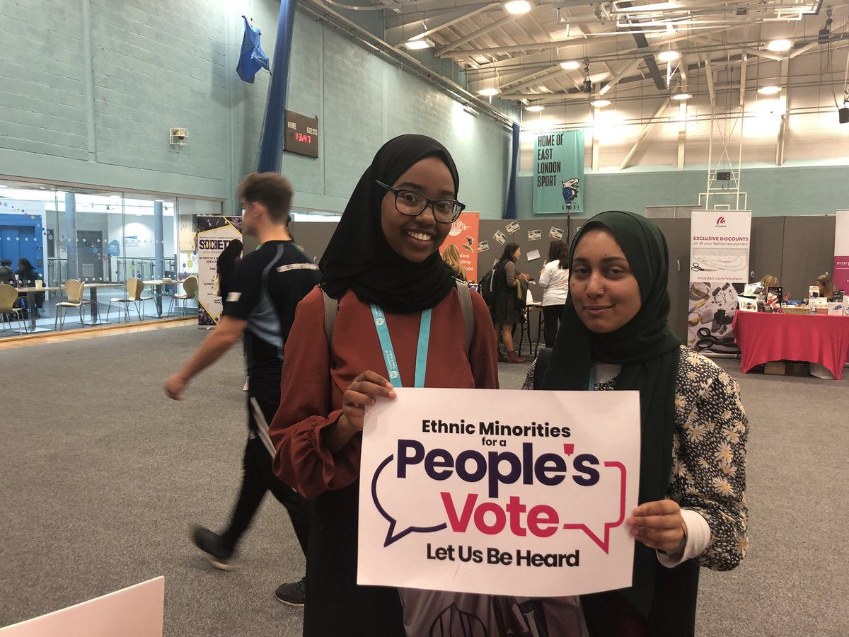 Wonderful to see people who agree with our campaign for a #PeoplesVote - ethnic minorities are one of the demographics who will be hit the most by Brexit. That's why we're demanding #LetUsBeHeard