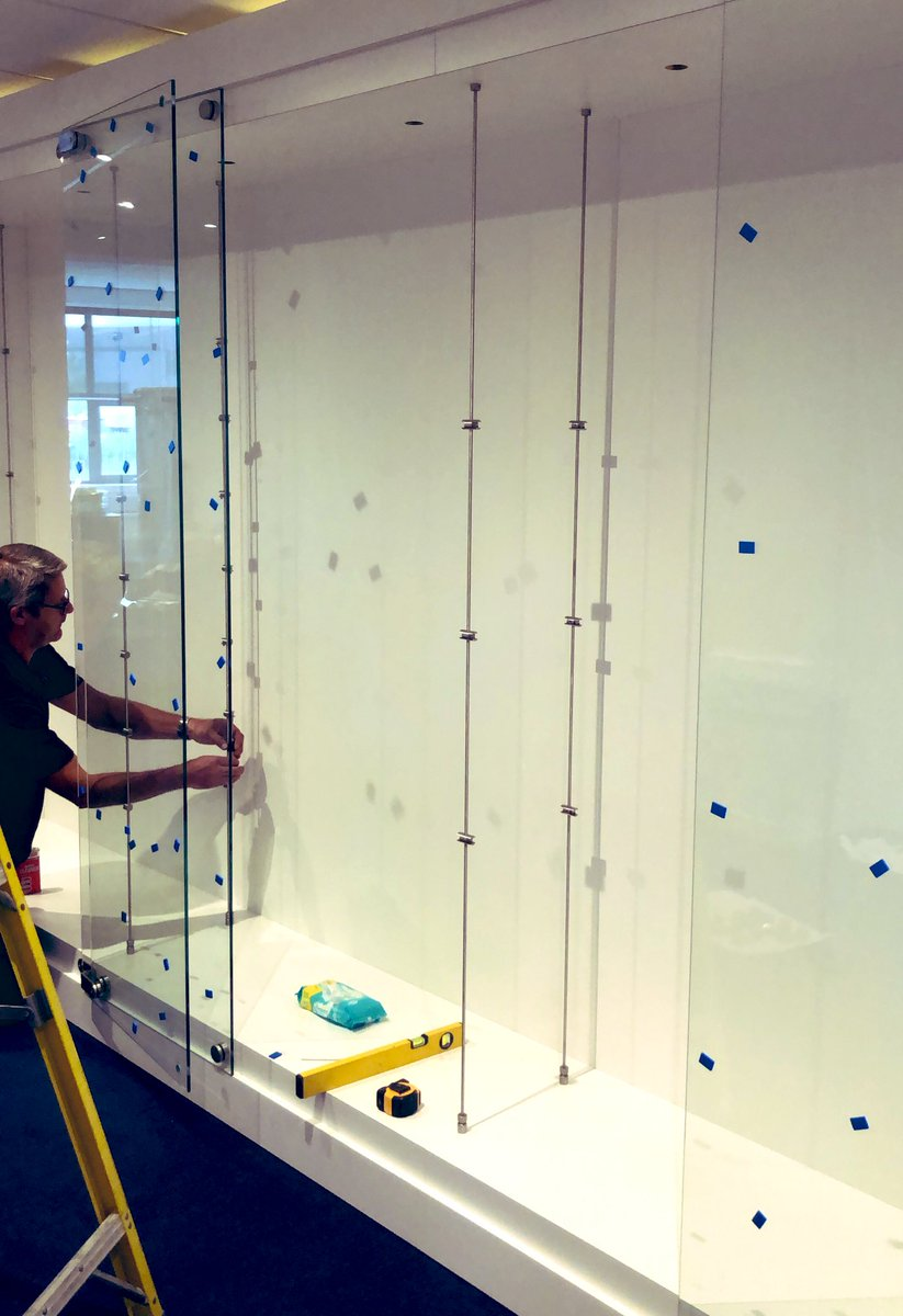 Trophy cabinet installation day here at the new workshop 🏆 #BeUnited