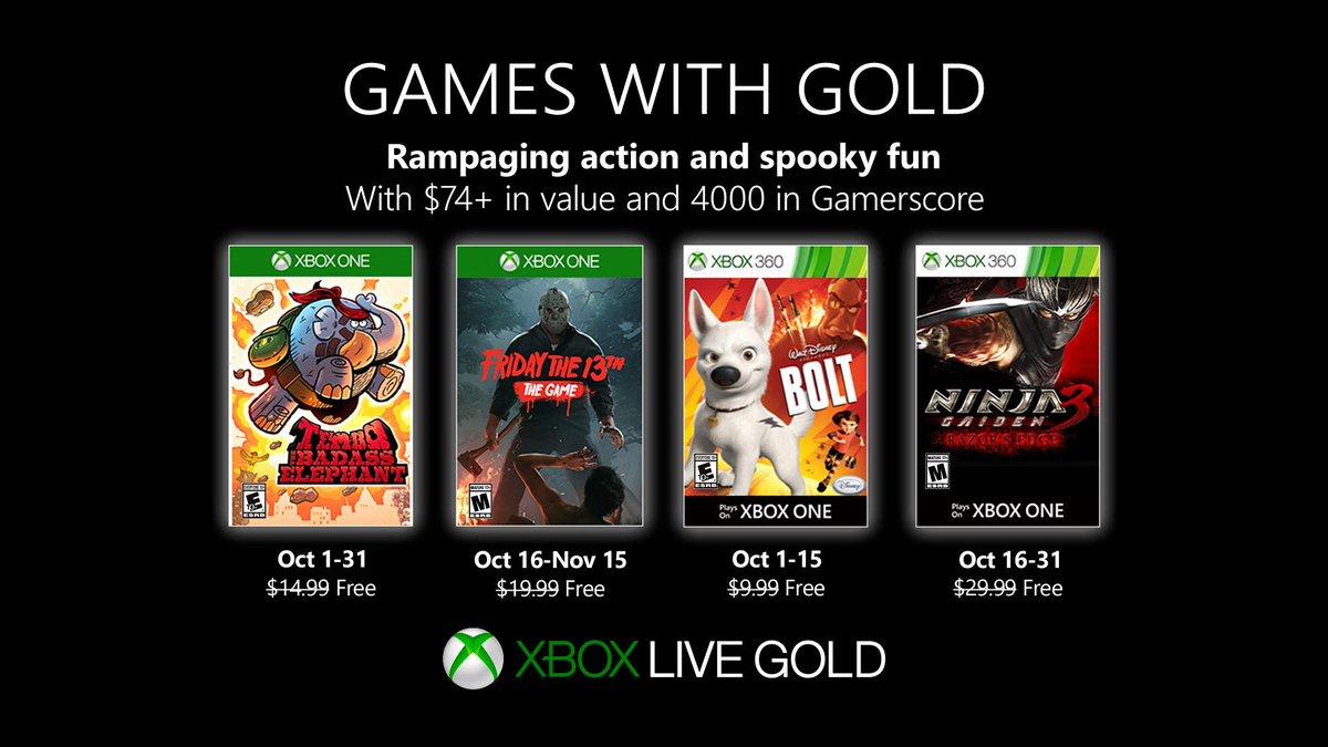 Les jeux offerts en octobre