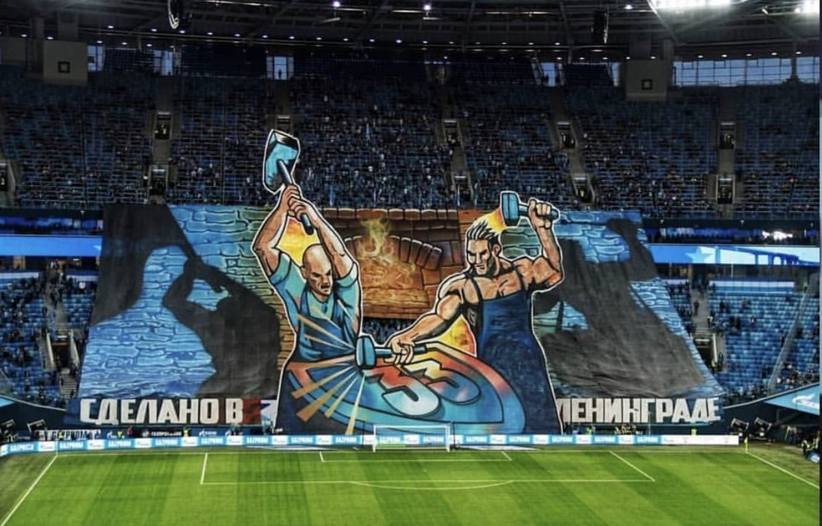Fanatics Of Football On Twitter Zenit St Petersburg Ultras Tifo Russia
