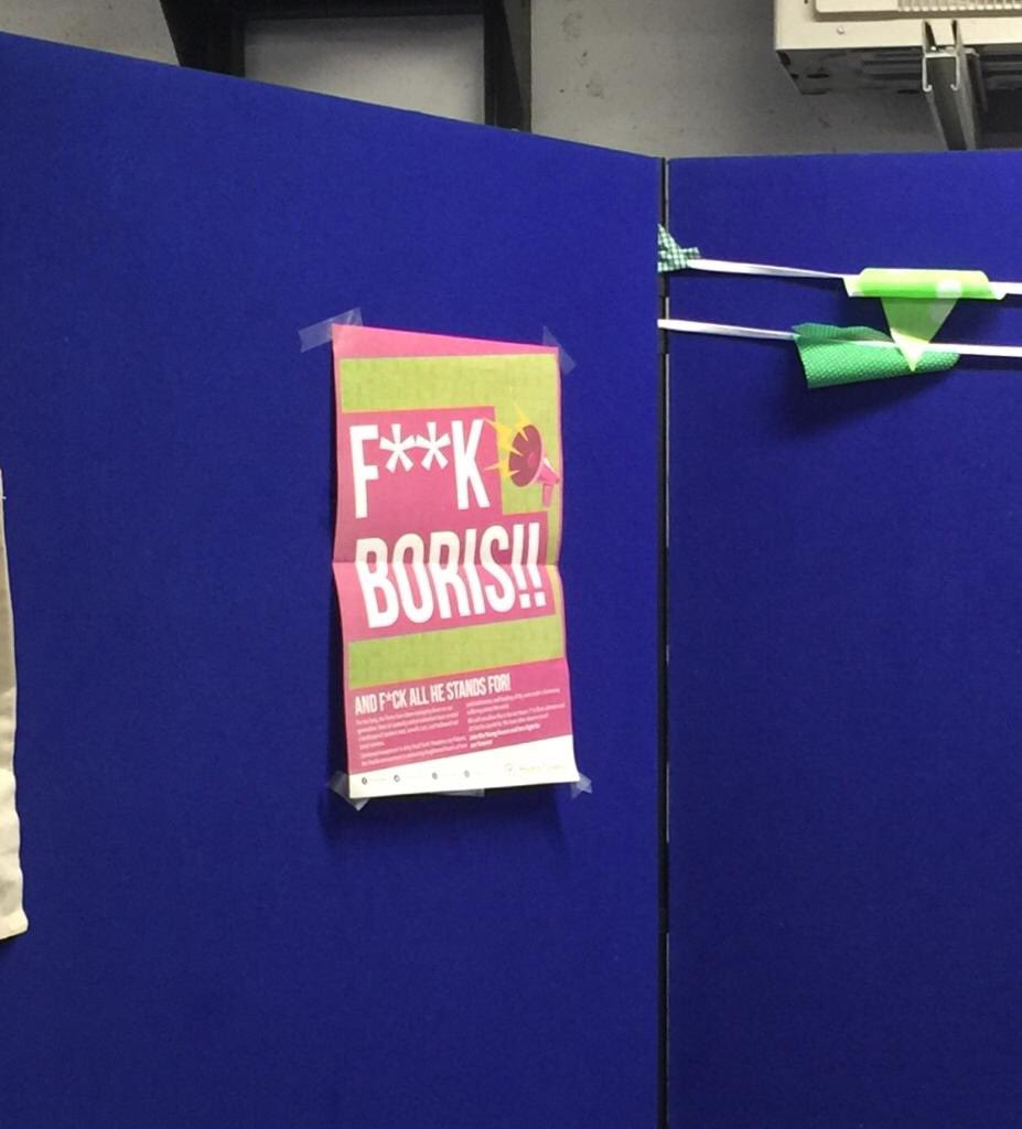 So this is a poster that the Green Party have up at Sussex university freshers fair. No wonder the youth are brainwashed. Disgraceful from the useless Green Party. How immature of a political party to act like this. Scum. @LoyalDefender2K #BackBoris 🏴🇬🇧🏴🇬🇧