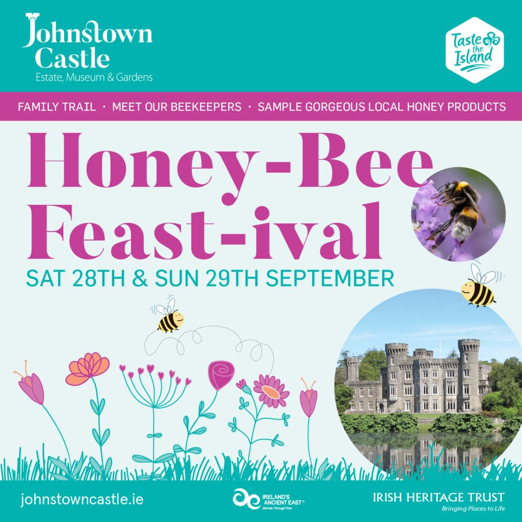 This weekend, @johnstowncastle is hosting a Honey Festival as part of the #TastetheIsland celebrations.  Along with a honey trail, there will be plenty of hands-on honey themed demonstrations, workshops & tastings for children & adults. No booking required.  #WhosYourHoney #Bees https://t.co/lBkD3pmps6
