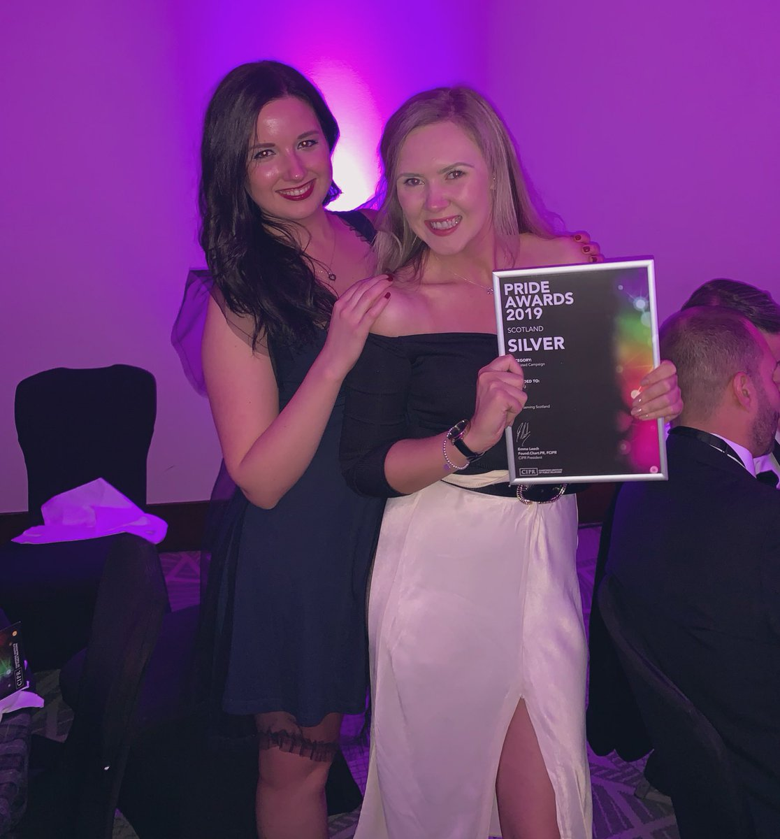 Katie and Anna, part of our fab @marksandspencer PR team with our Silver award 🙌🔥