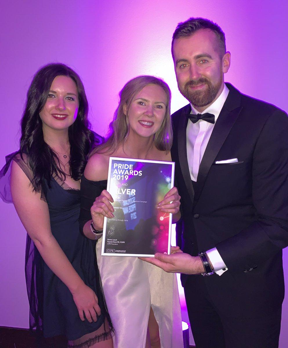 Our @MortonFraserLLP PR team with our Silver #PRideSCO @CIPR_Awards 😍🔥