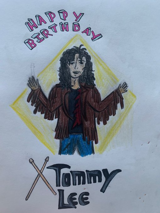 Happy birthday Tommy Lee! Keep on drumming dude!