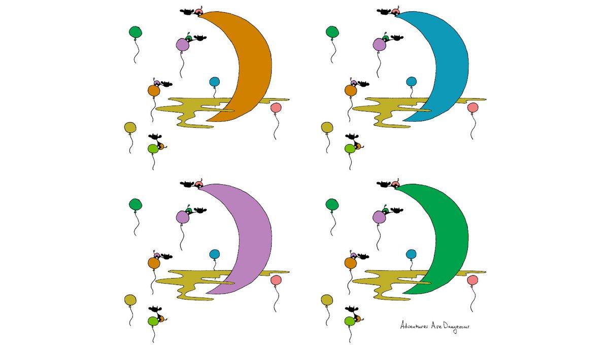 October 3rd, 2019, 22:15, heavy rain in paint drips. RA/Dec (J2000.0): 23h11m36.27s/-6°2027.6. ✨ adventuresaredangero.us/shop ✨ #whimsical #cozy #adventure #sketch #illustration #doodle #happy #cute #sky #cows #cowart #space #spaceart #moon #moonart #balloons #colorful #colors