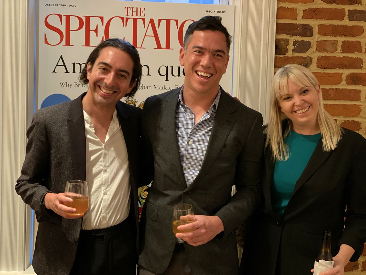 A welcome to the US party for The Spectator at Fathom Gallery in DC Thanks Annie Scranton