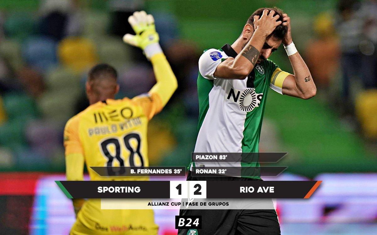 Sporting sofre a terceira derrota consecutiva.
