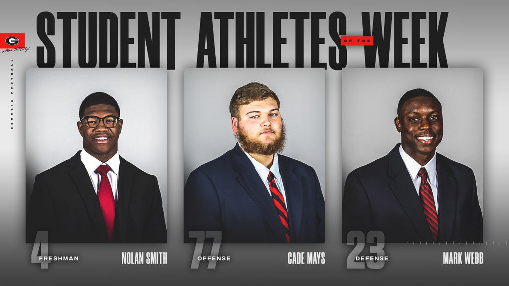 Our student-athletes of the week. Go Dawgs !!