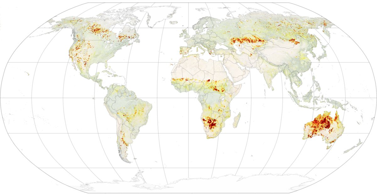We can investigate how fires 🔥 respond to wind and rainfall patterns with a dataset called the Global Fire Atlas. Scientists at @NASAGoddard created it, tracking ~13 million fires from 2003-2016. #Datapalooza go.nasa.gov/2ZJIdRe