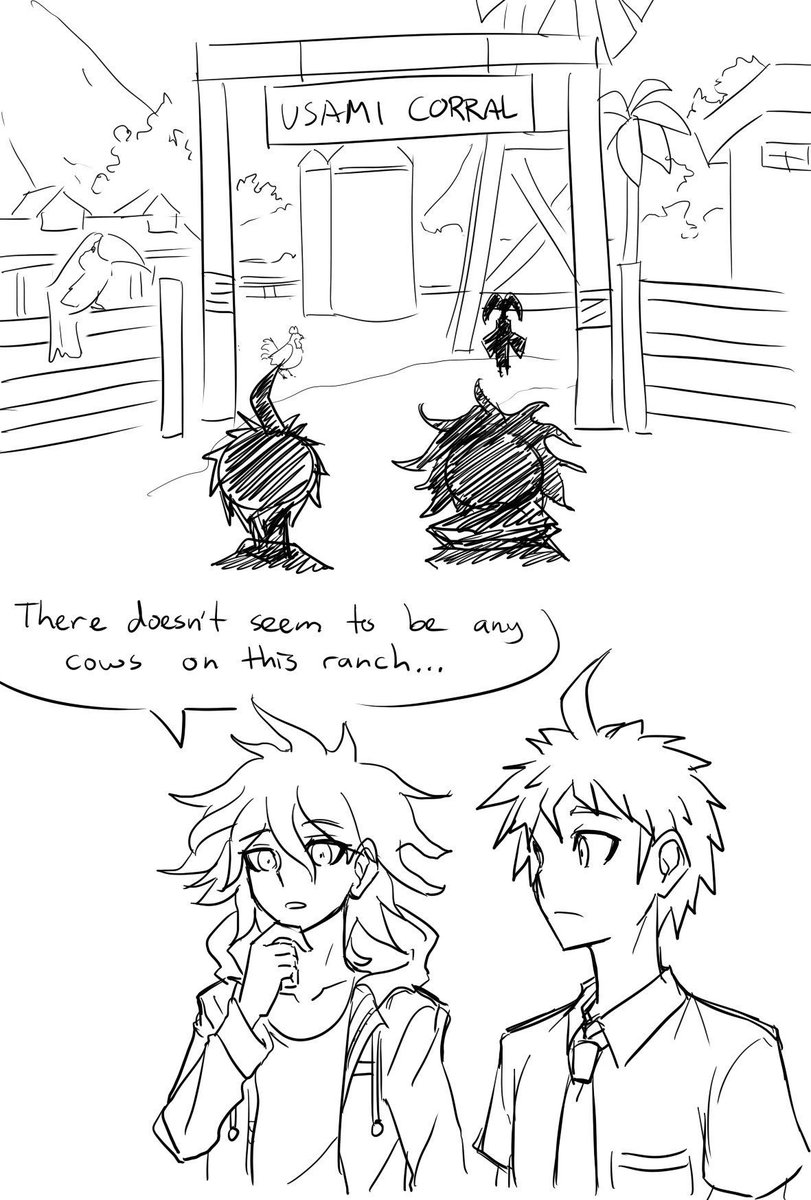 Digging through stuff I cant easily repost anymore (fanart tends to have that effect). Old Danganronpa comic based off a scene from the game which I wish happened to Akane.