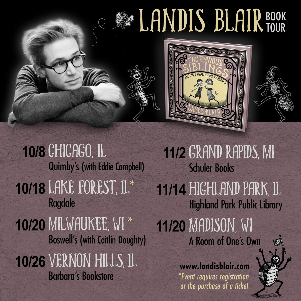 Im going to be doing a number of events this fall for my new book #TheEnviousSiblings. Hope to see some of you if you happen to be in the area.