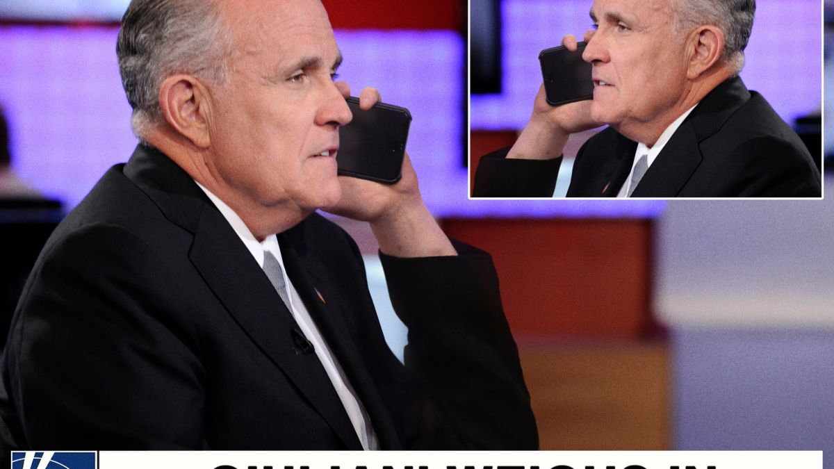 Rudy Giuliani Calls In To Talk Show He Already On To Deny What He Just Said trib.al/IItOXt0