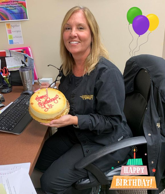 Happy Birthday to our office Manager, Liz!