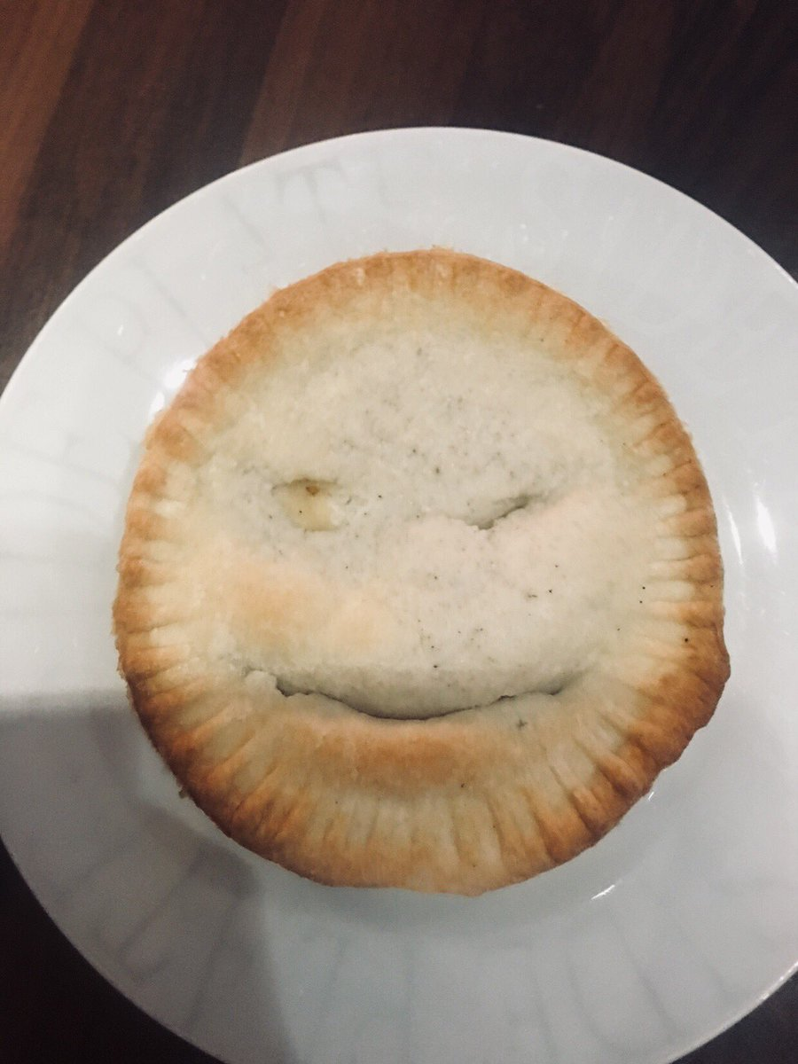 @HollandsPies my cheese and onion pie was winking at me when I opened it!! 😜😜 #winkingpie #hollandspies #bestpieever
