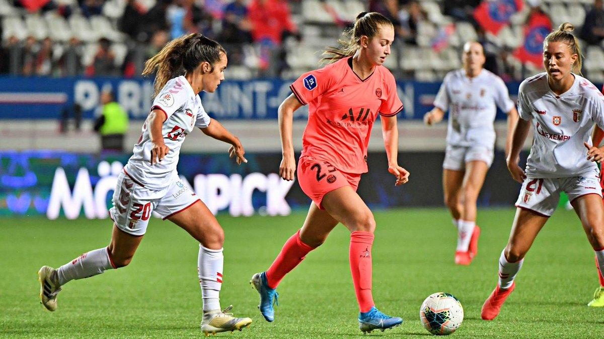 Braga empatou a zero com o PSG, mas uma derrota de 7-0 na primeira mão ditou a sua eliminação na primeira ronda da Champions League feminina.