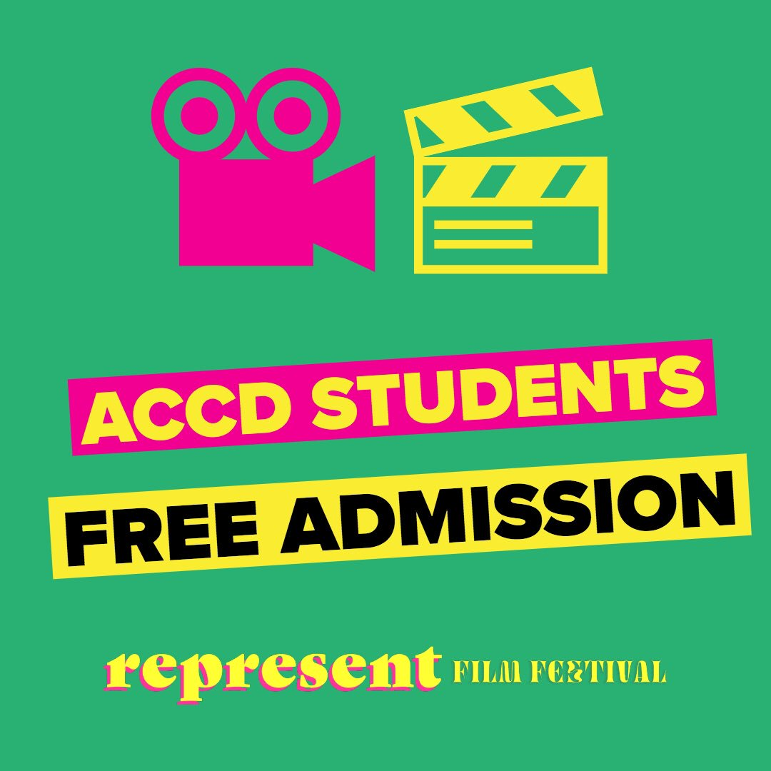 A big thank you goes out to the H&S Department @artcenteredu for sponsoring Represent Film Festival & making it a reality. Thanks to them, ACCD students get in free! Email antiracistclassroom@gmail.com w/ a screenshot of your ID & we'll put you on the list. We'll see you there!
