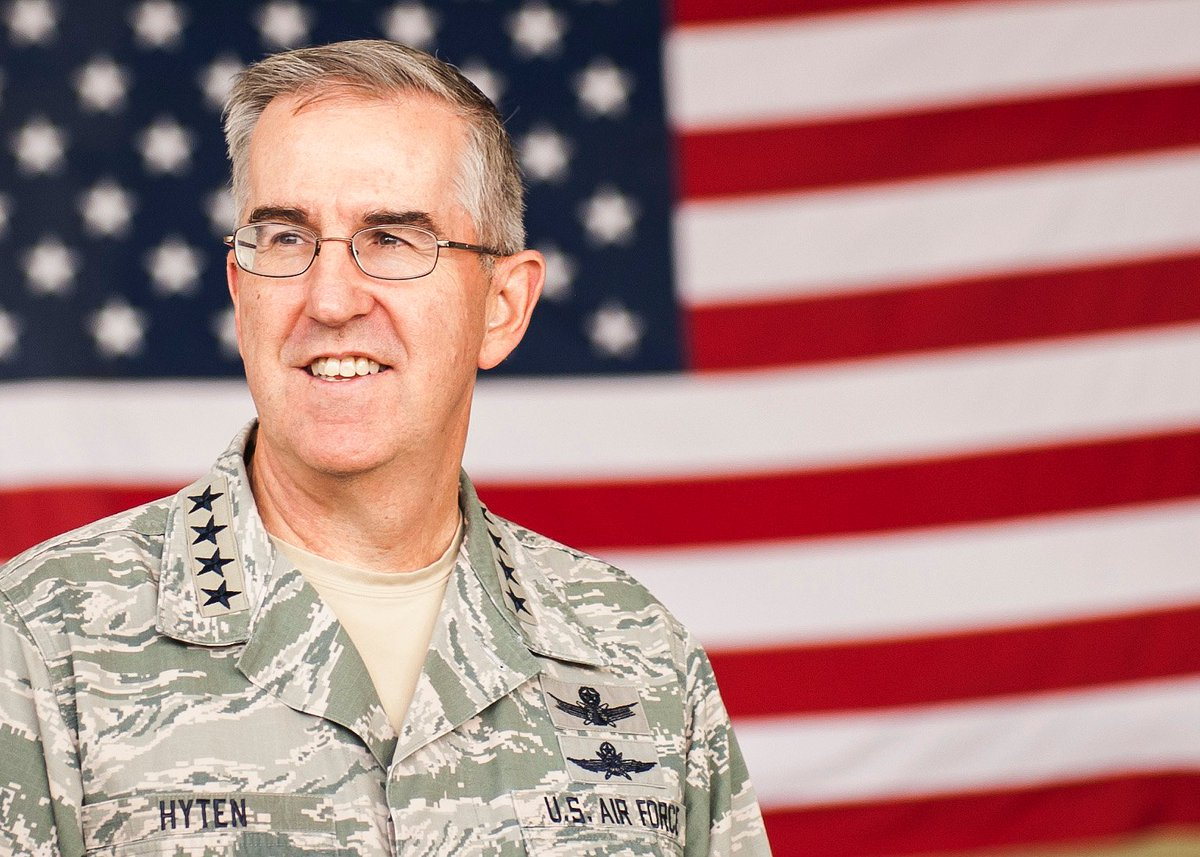 Congratulations to Gen. John Hyten on his confirmation as the next Vice Chairman of @thejointstaff. Future conflicts will extend beyond air, land & sea to space & cyberspace. The knowledge & experience that Gen. Hyten brings to the table as @US_Stratcom Commander is invaluable.