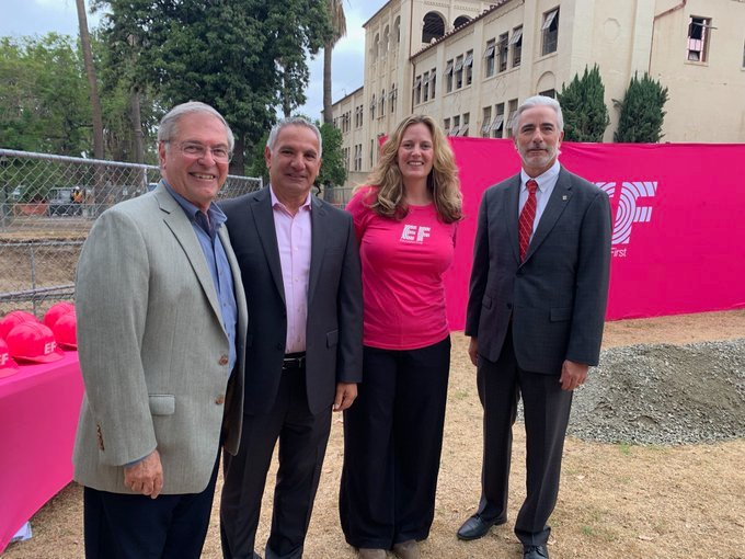 This afternoon we celebrated the groundbreaking of @EF Academy #Pasadena, a 1,000-student international boarding school. The school is located at 1539 E. Howard St. and is expected to open next summer. #schools #education