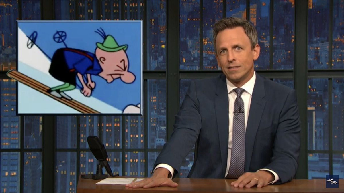 plus you get to see @sethmeyers bust out a delightful Mr. Magoo impression!!!