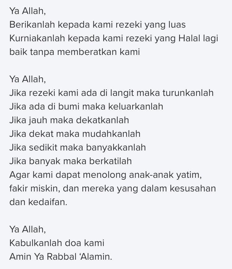 Workco Resumemurah On Twitter 7 Zikir Pembuka Rezeki